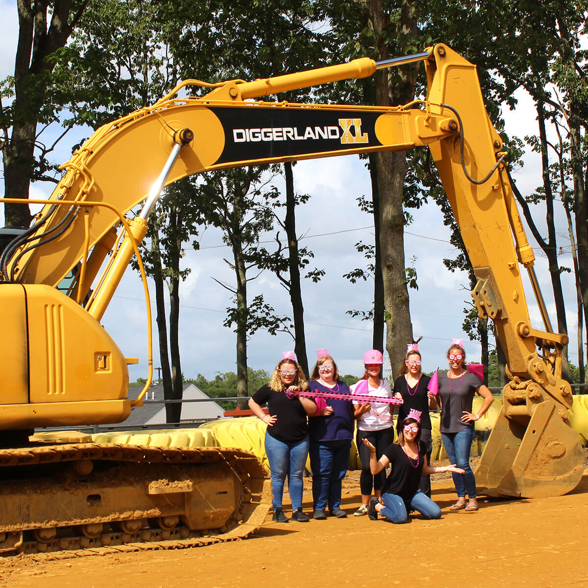 Bachelorette party at Diggerland XL